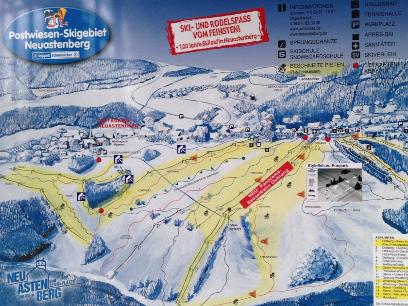 Skigebiet Postwiese Neuastenberg